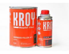 KROY užpildas Express Filler 0,8L + kietiklis 0,2L, 4:1, pilkas