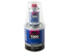 TORO užpildas 4001 0,8l pilkas + kietiklis 0,16l + indelis
